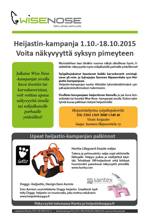 Heijastin-kampanja 1.10.-18.10.2015