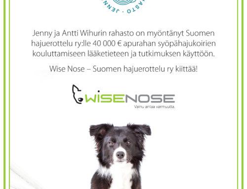 Jenny ja Antti Wihurin rahasto on myöntänyt meille apurahan