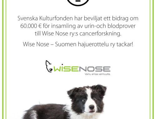 Svenska Kulturfonden har beviljat ett bidrag till Wise Nose